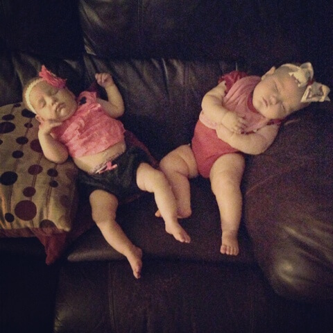 baby friends sleeping