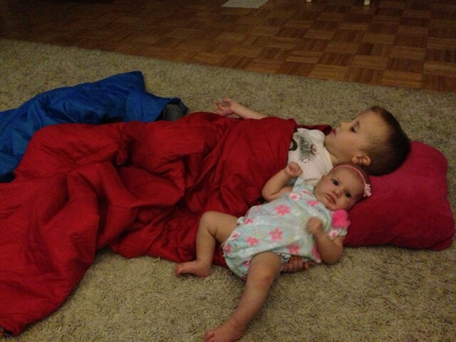 little boy and baby sister