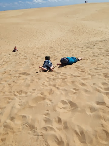 rolling down sand hill