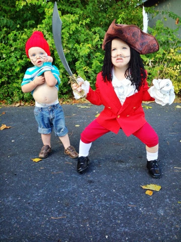 captain hook and mr smee costumes for kids