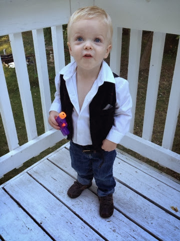 homemade han solo outfit for toddler