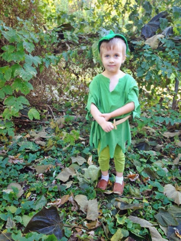home made peter pan outfit