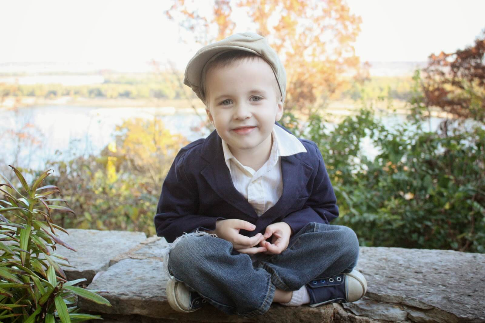 boy posing for picture