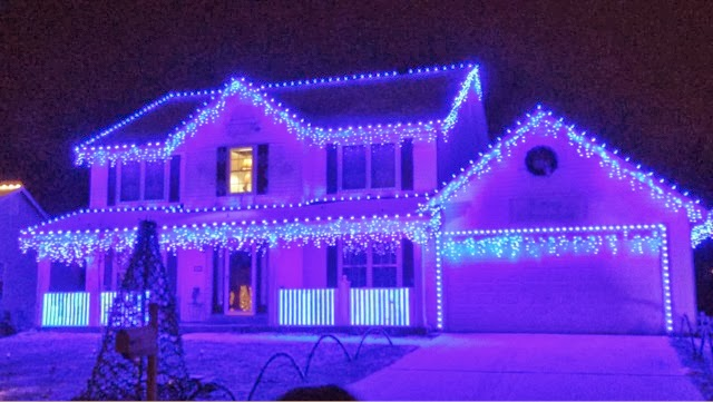 crazy christmas lights house decoration