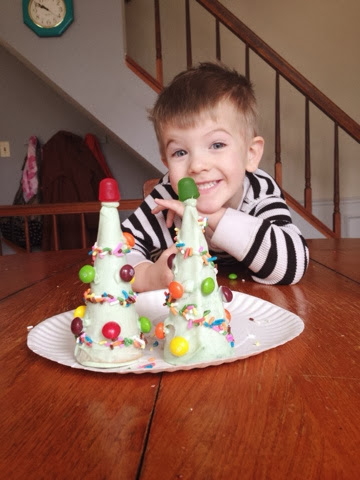 little boy candy christmas tree