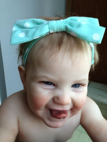 cute baby girl tongue out
