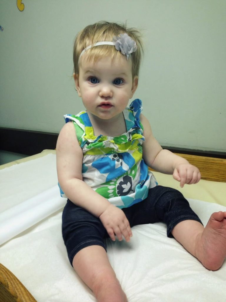 baby at doctors