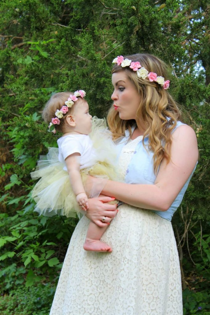 young woman and baby girl
