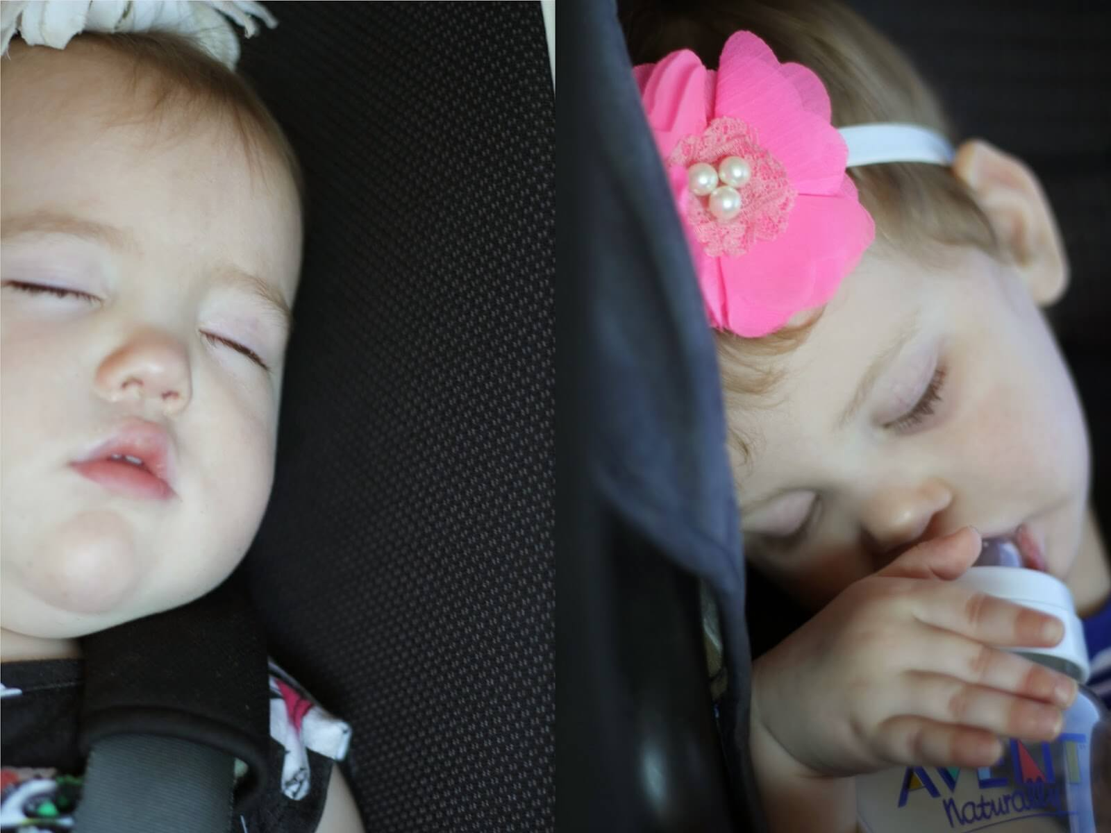 babies asleep in carseat