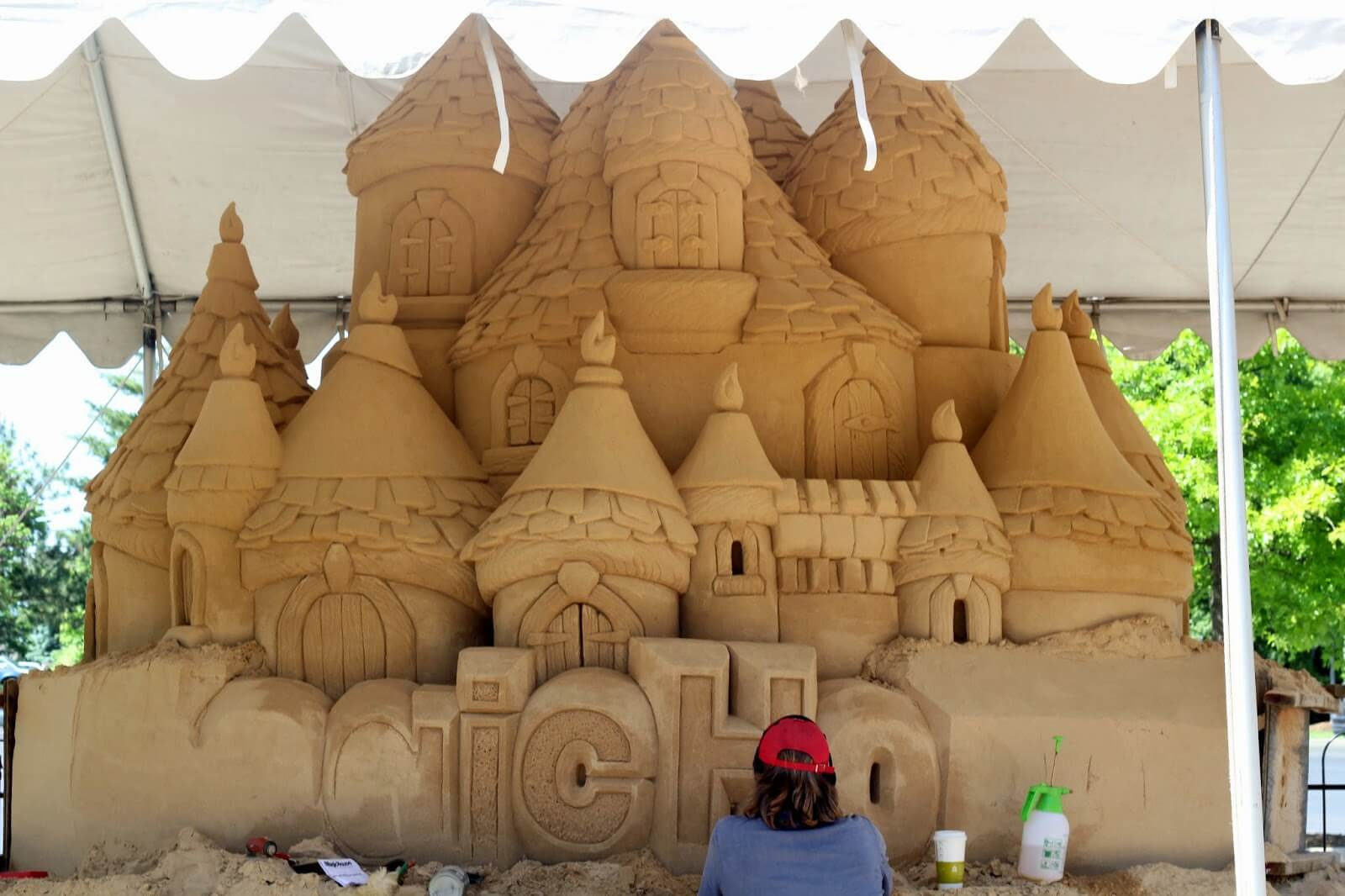 awesome sand castle