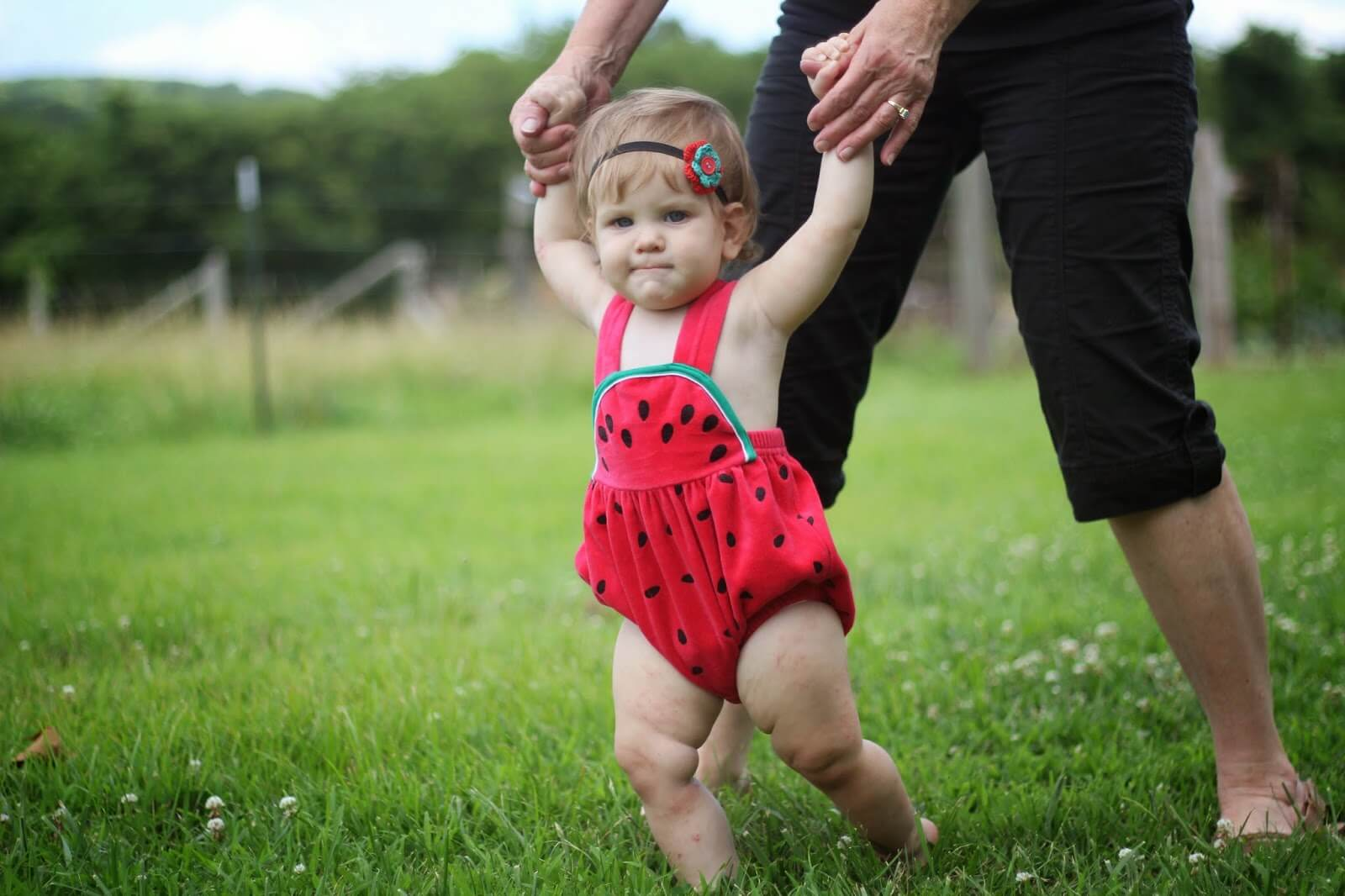 watermelon romper for baby girl