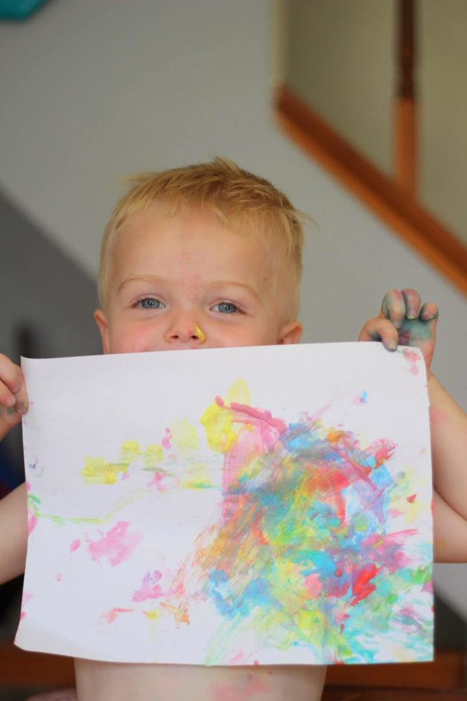 childs painting