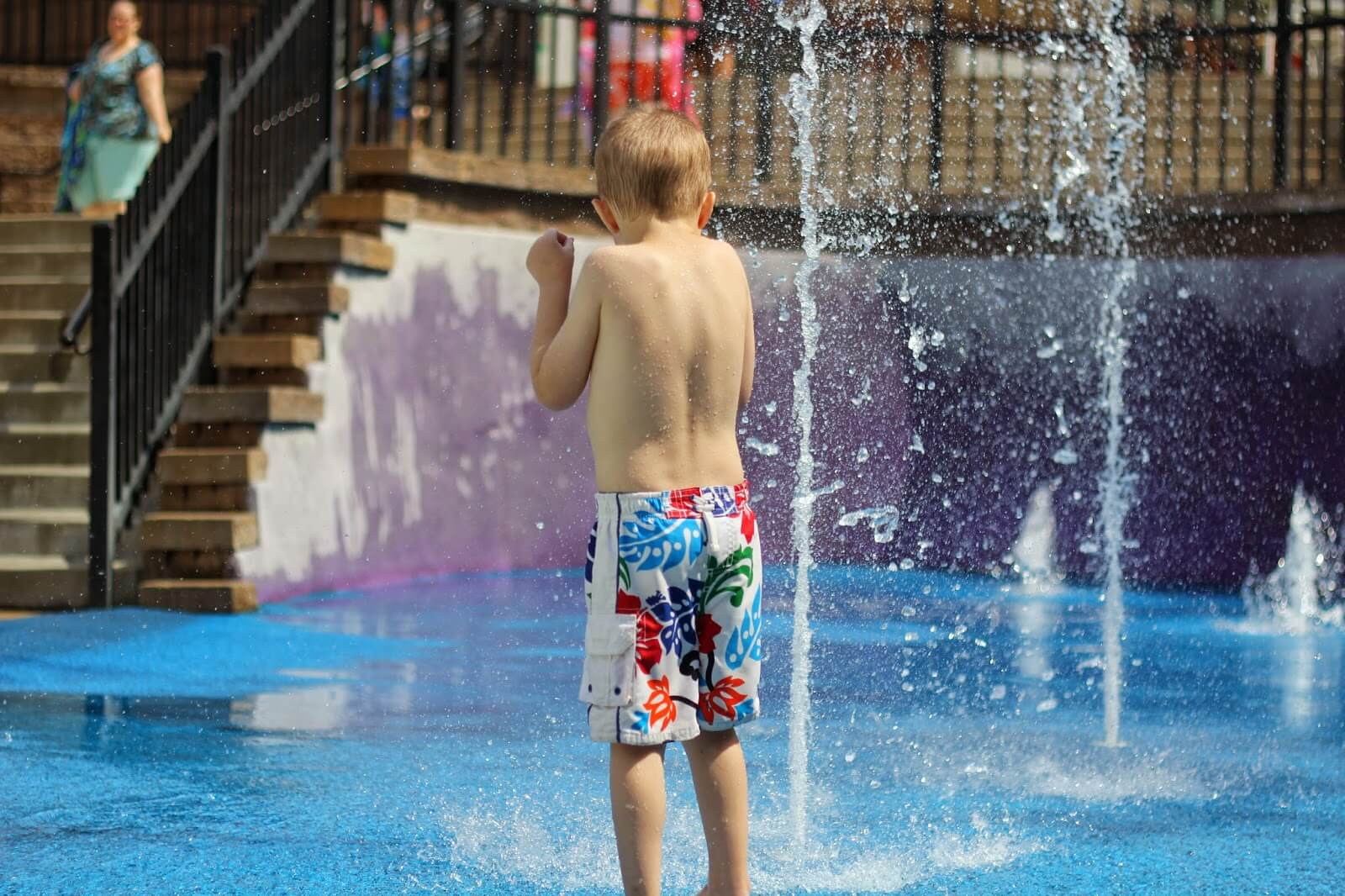 boy at the water park