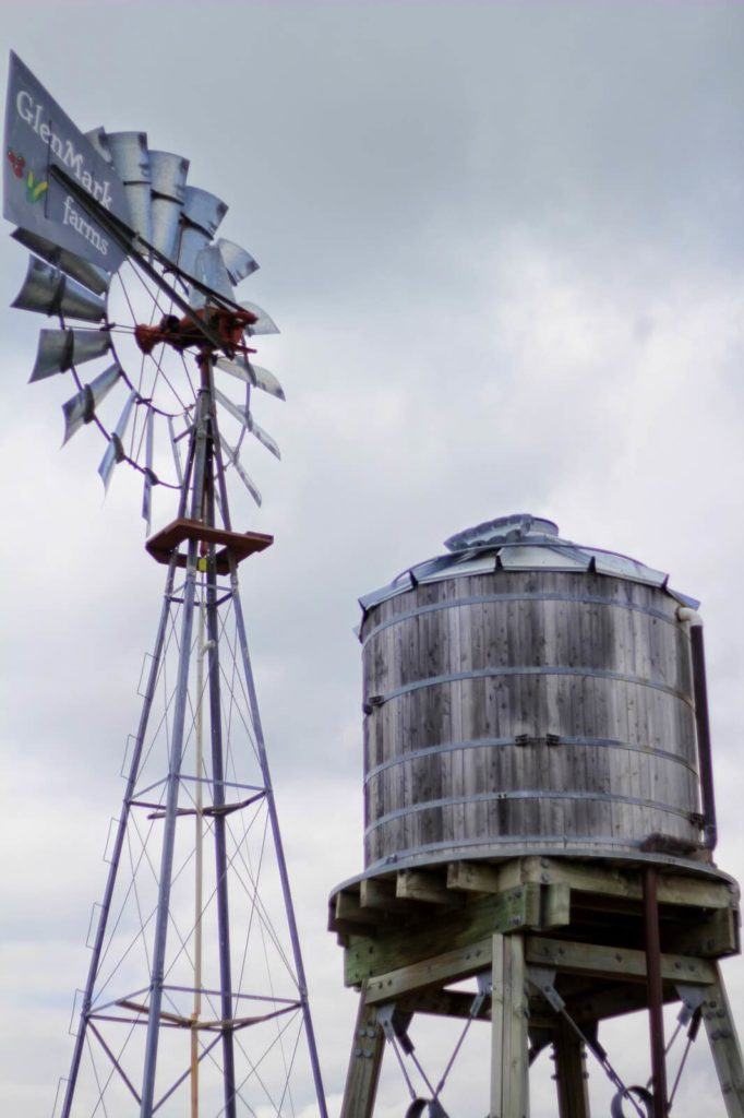 windmill and water tower