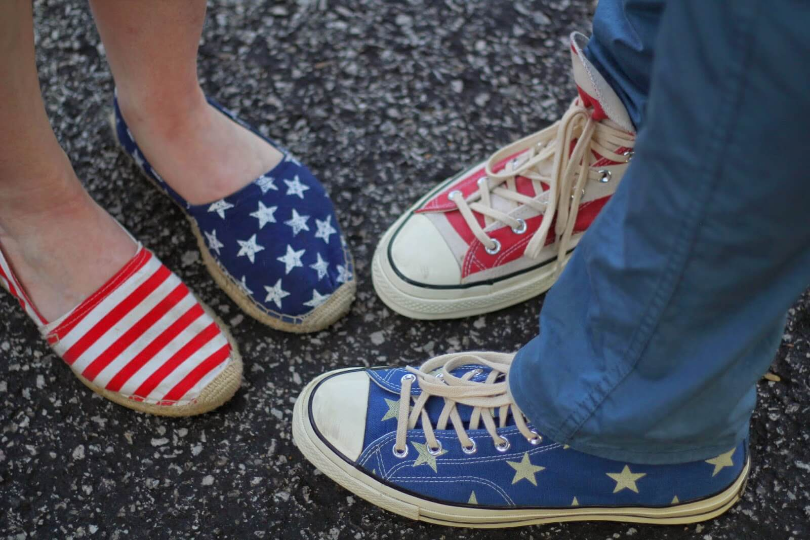 patriotic red white and blue shoes
