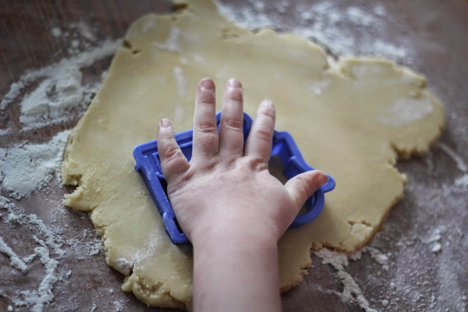 cutting out cookie shapes