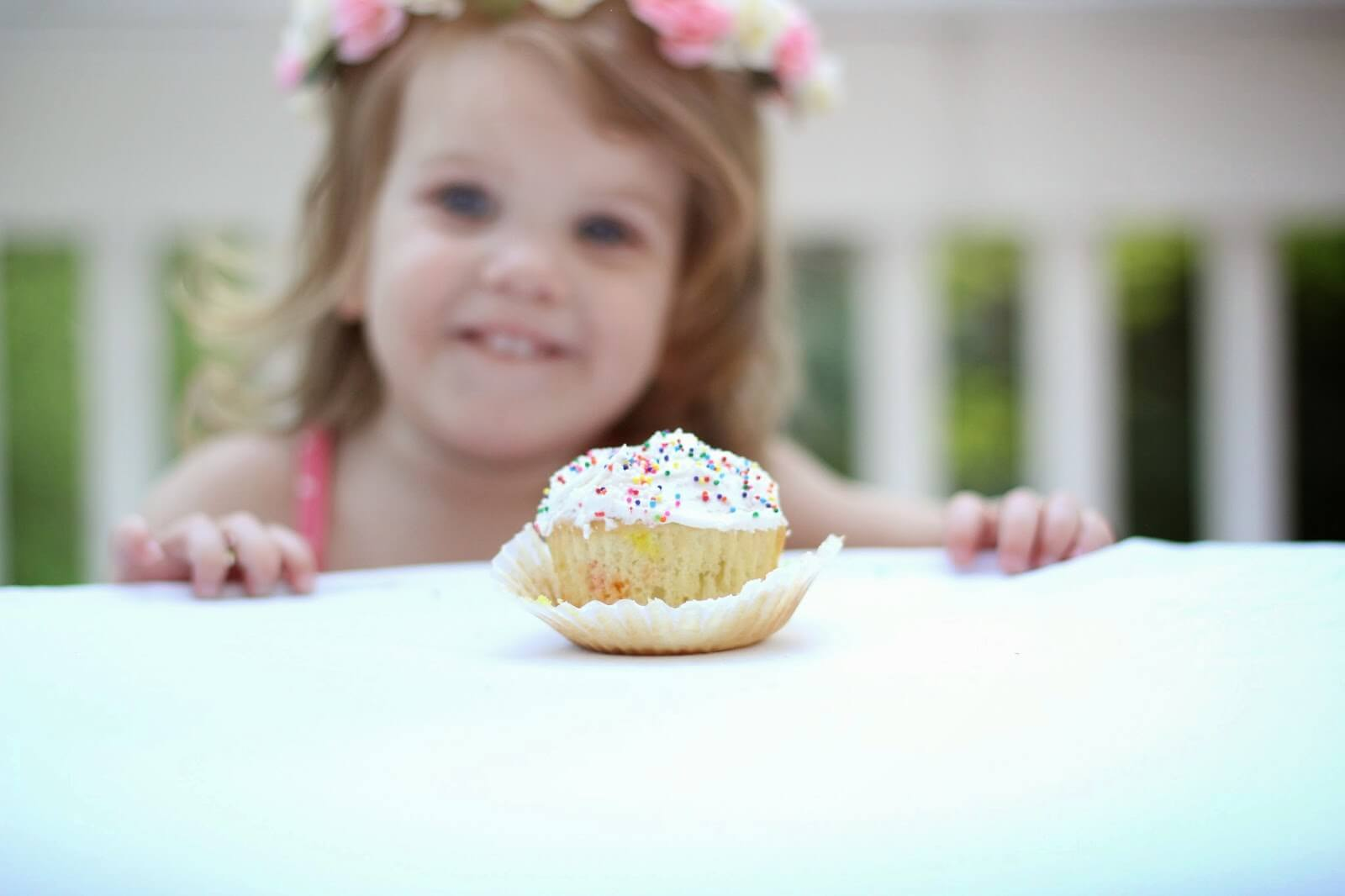 birthday girl cupcake with sprinkles