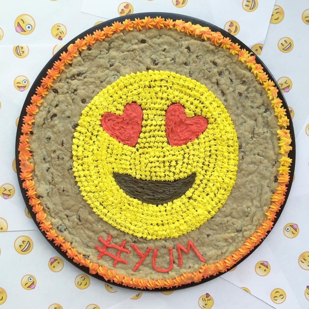 happy face cookie cake
