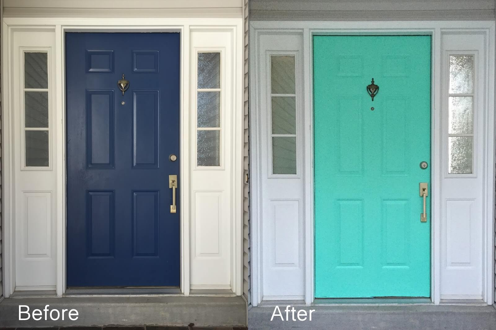before and after DIY