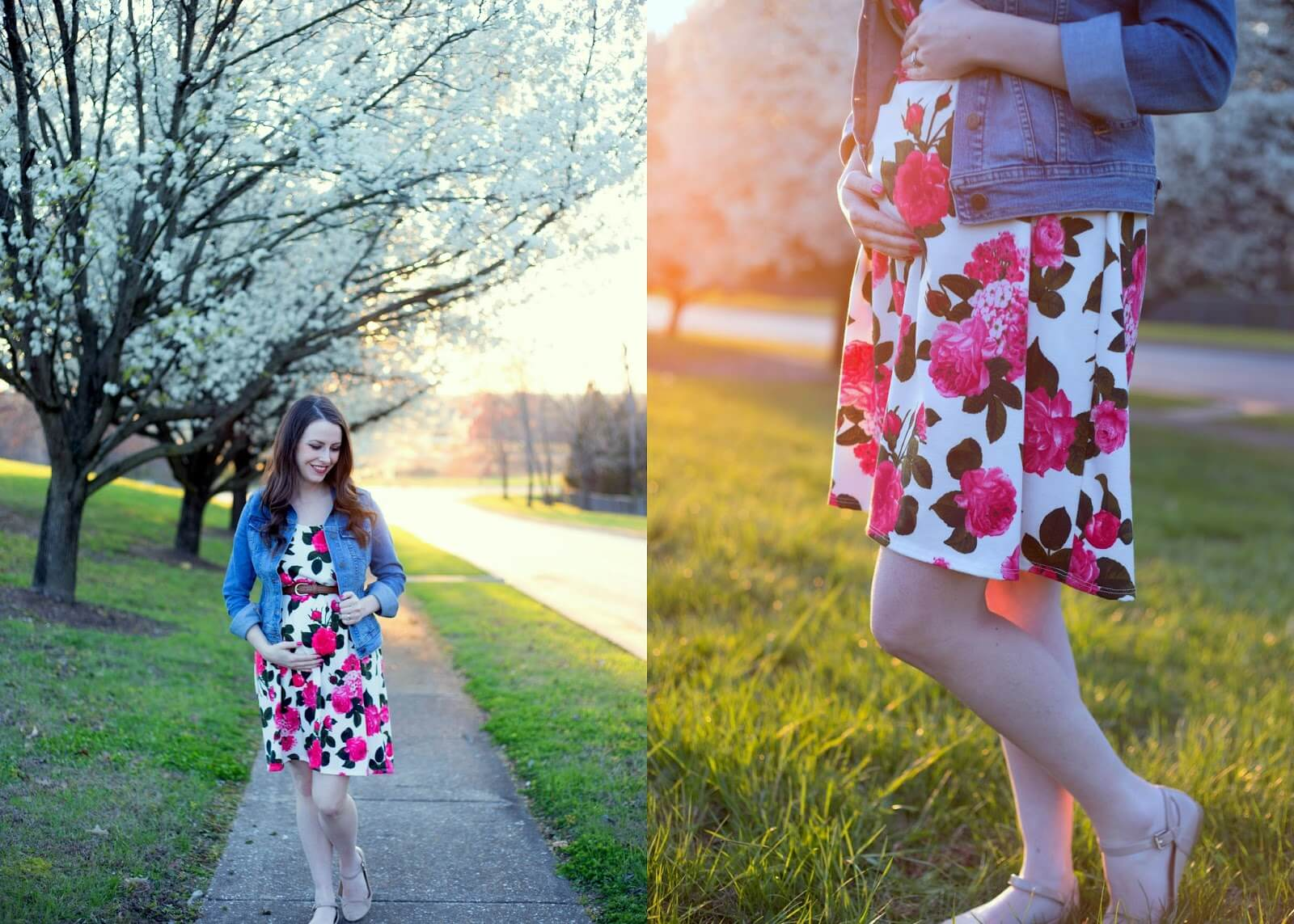 floral pregnancy dress from pink blush maternity