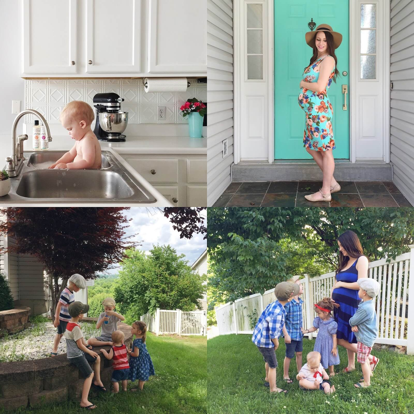 baby sink bath and maternity shots