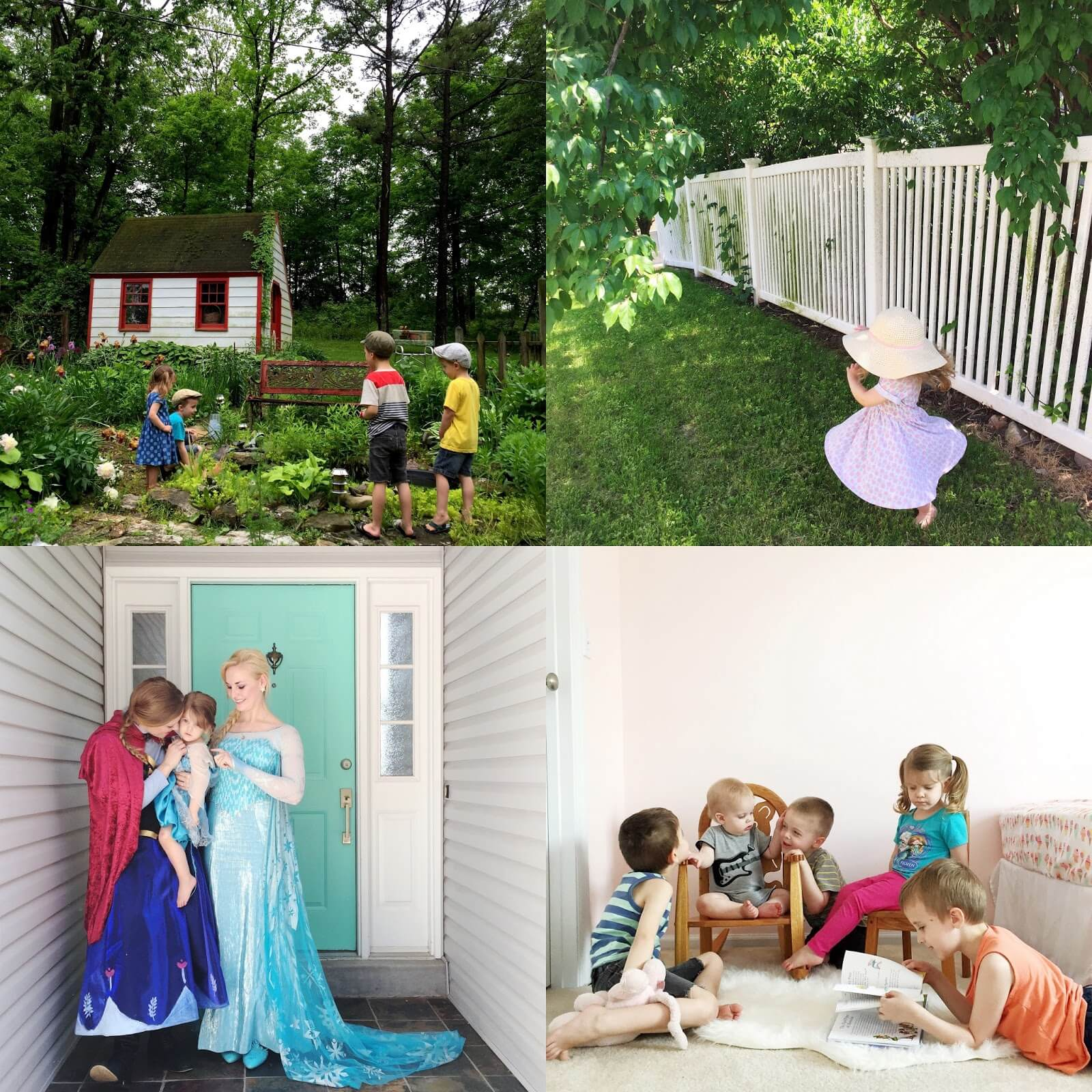 kids and disney frozen characters anna and elsa