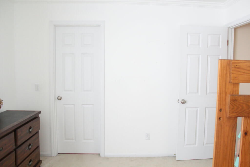 empty white walls