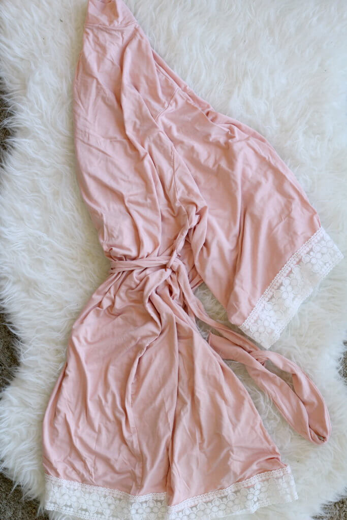 soft robe from pinkblush maternity