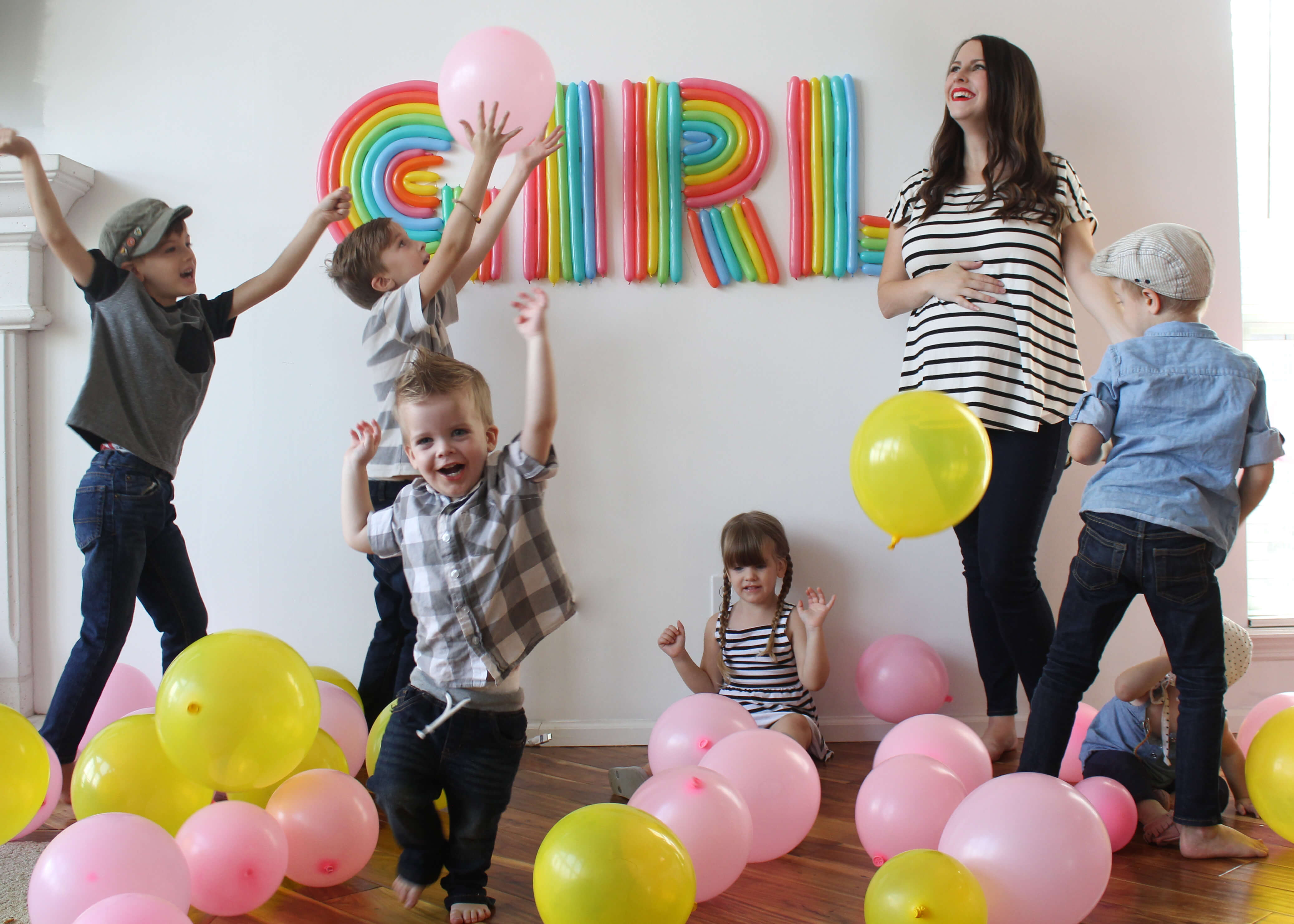 how to do a gender reveal with balloons